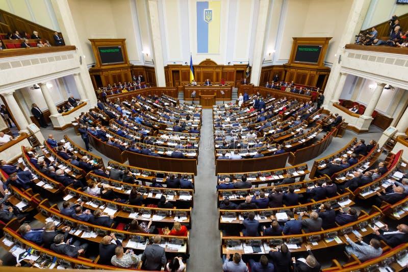 乌克兰总统Petro波罗申科在Verkhovna Ukrai Rada  免版税库存照片