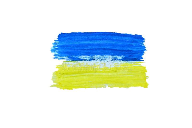 乌克兰旗子绘与水彩 库存照片