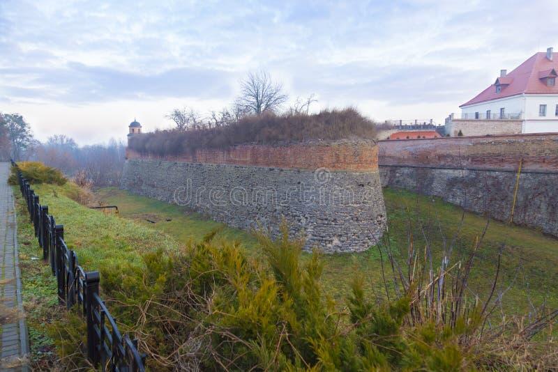乌克兰杜布诺城堡周围的城堡壕 乌克兰 免版税库存图片