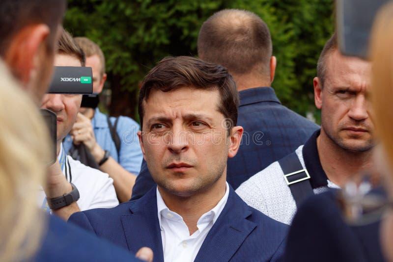 乌克兰沃洛季梅尔Zelenskyy的总统访问了乌日戈罗德 库存照片