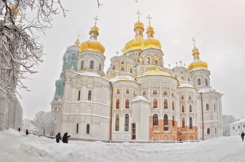 乌克兰的金圆顶 免版税库存图片