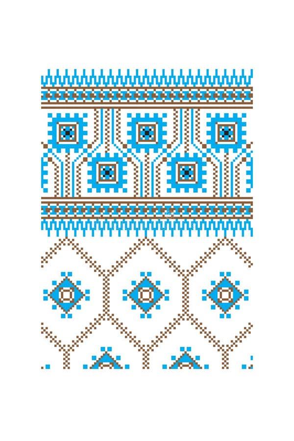 乌克兰装饰品传染媒介第5部分 库存例证