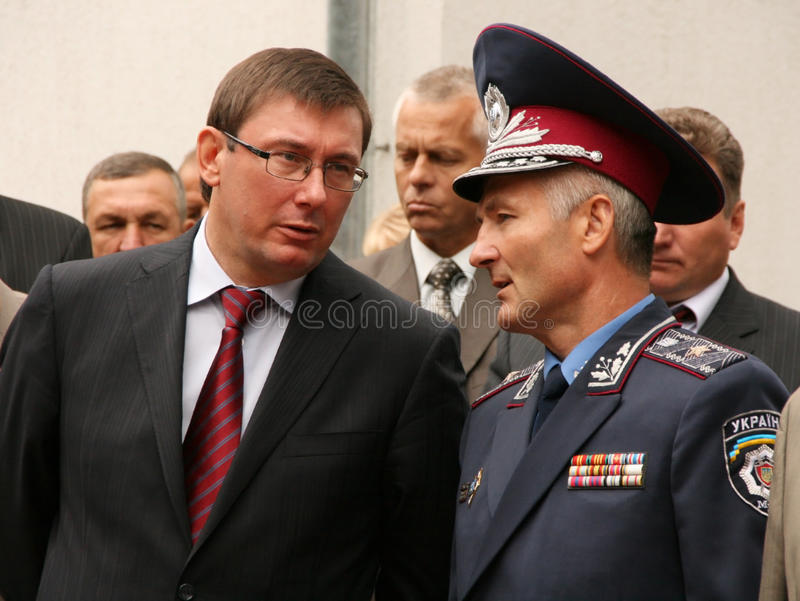 乌克兰警察领导  图库摄影