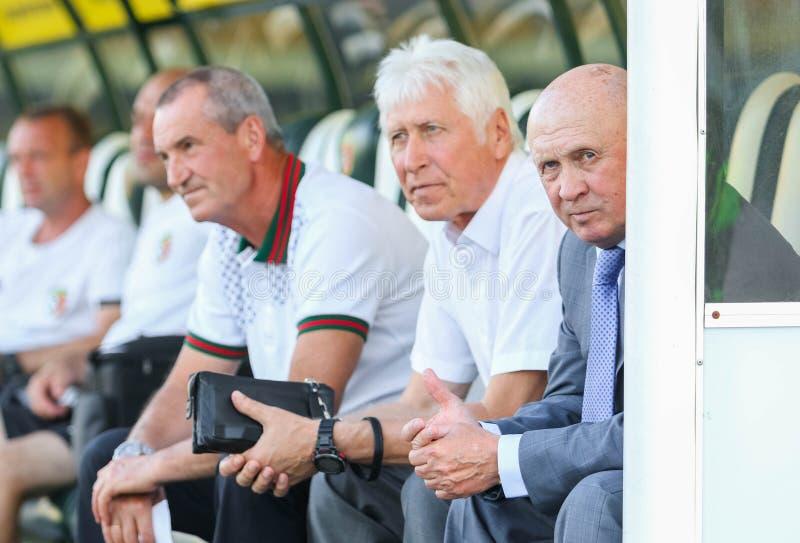 乌克兰足球教练米克拉巴甫洛夫 免版税图库摄影