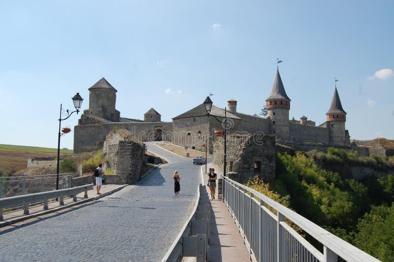 乌克兰, Kamianets-Podilskyi城堡 库存照片