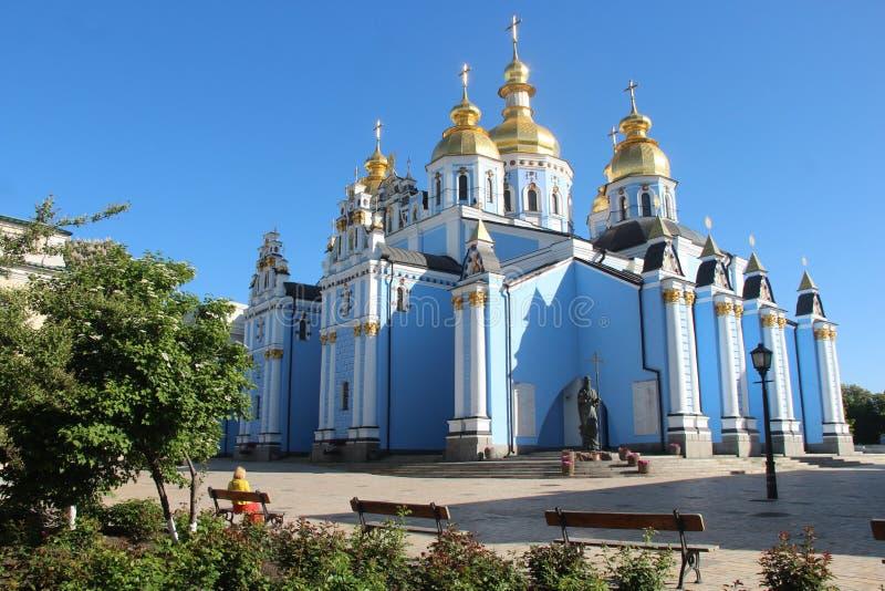 乌克兰 圣迈克尔& x27; 金黄的s -半球形的修道院 基辅市 免版税库存图片