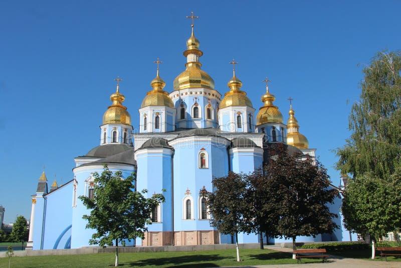 乌克兰 圣迈克尔& x27; s金黄半球形的修道院 基辅市 免版税库存图片