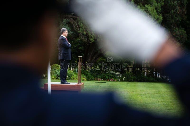 乌克兰总统波罗申科正式欢迎仪式我 免版税库存图片