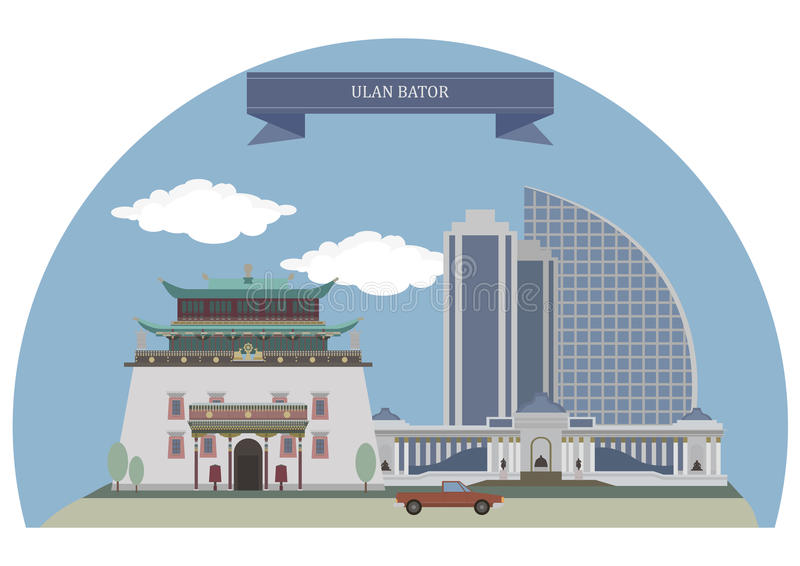 乌兰巴托,蒙古 皇族释放例证