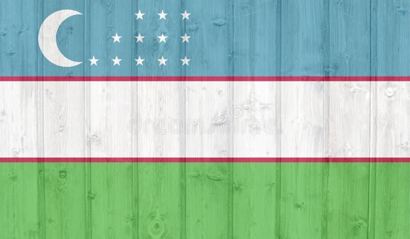 乌兹别克斯坦旗子 库存例证