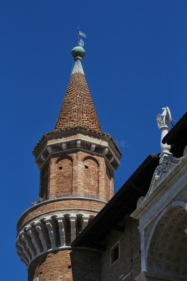 乌尔比诺,意大利,公爵的宫殿 向量例证