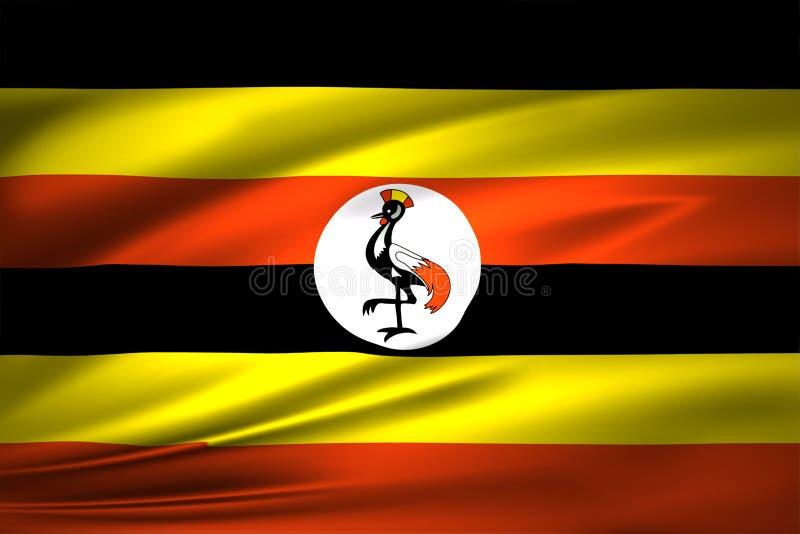 乌干达旗子例证 皇族释放例证