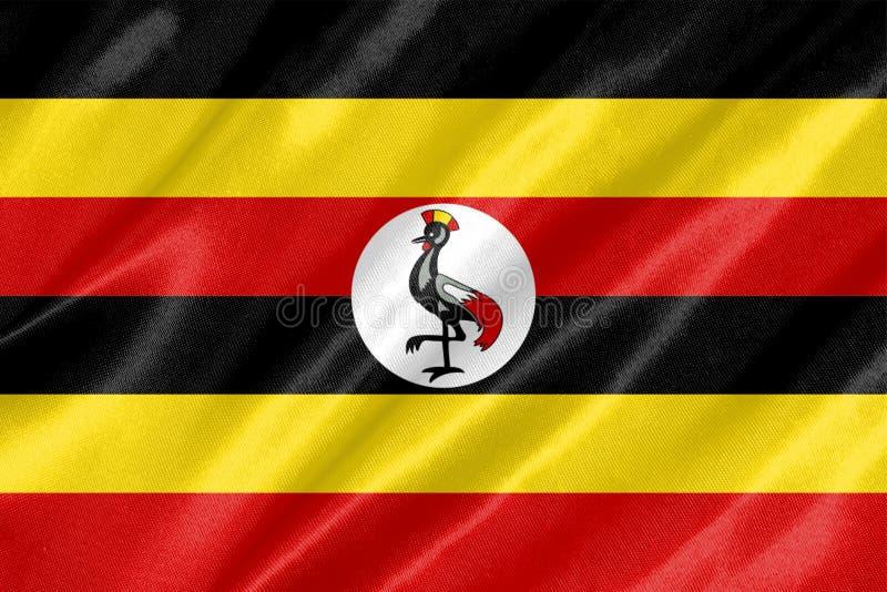 乌干达旗子 皇族释放例证