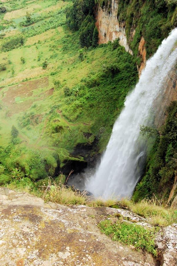 乌干达瀑布 免版税库存照片