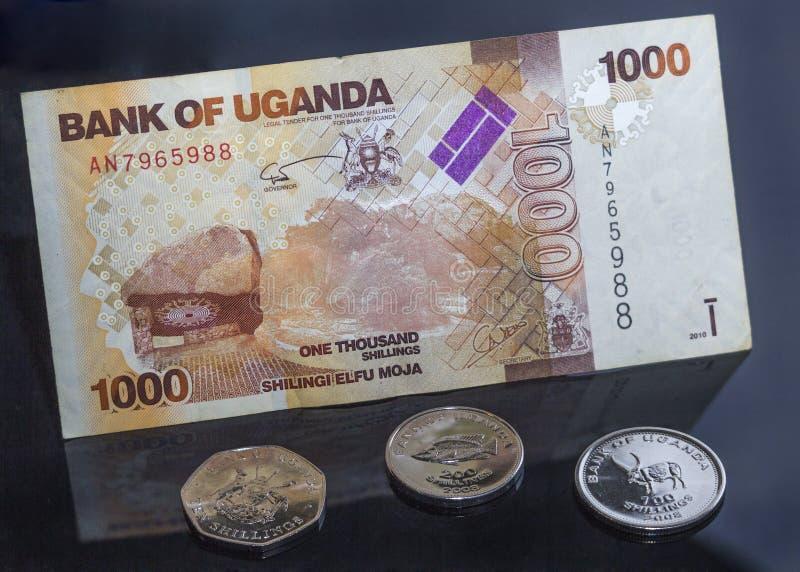 乌干达金钱、硬币和票据 免版税库存图片