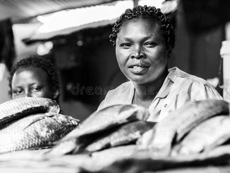 乌干达鱼贩子 免版税库存图片