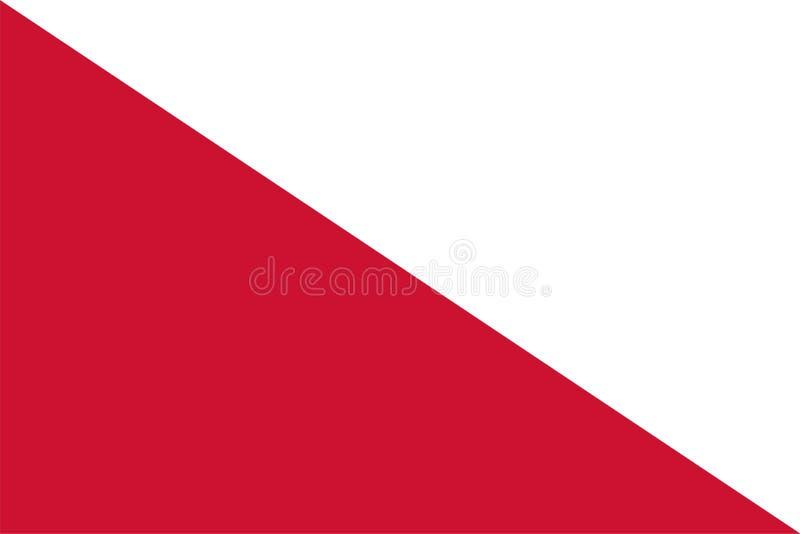 乌得勒支传染媒介旗子是资本和多数人口众多的城市乌得勒支荷兰省的  皇族释放例证