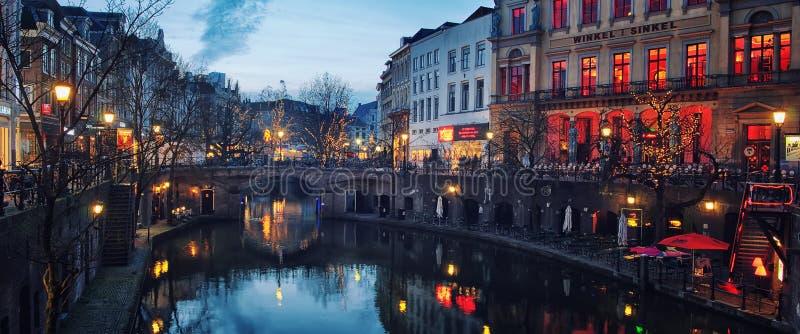 乌得勒支市中心 库存图片