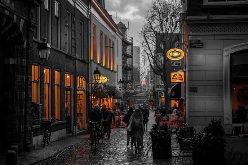 乌得勒支街道 库存照片