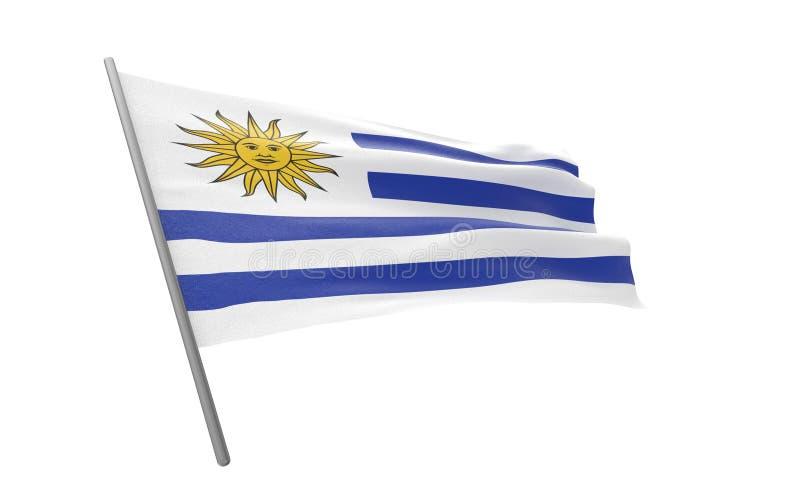 乌拉圭的旗子 皇族释放例证