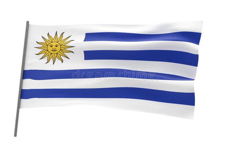 乌拉圭的旗子 库存例证
