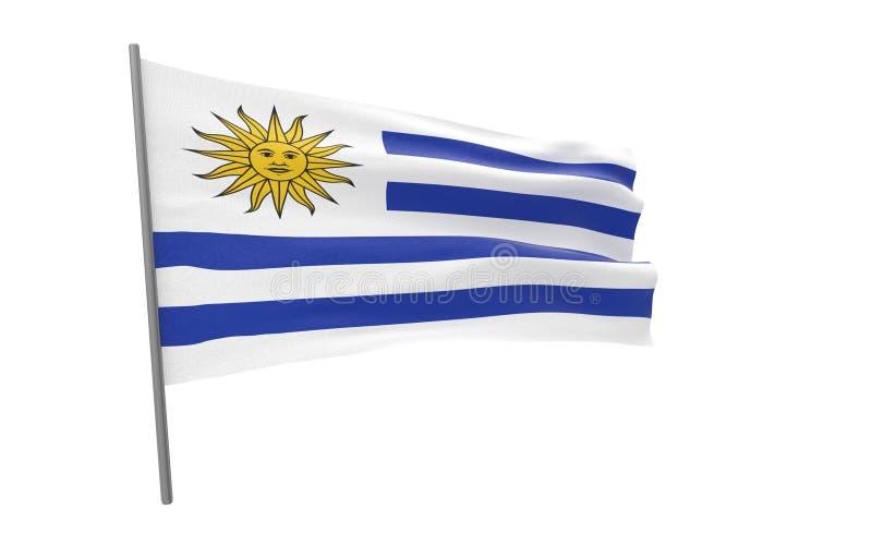 乌拉圭的旗子 向量例证