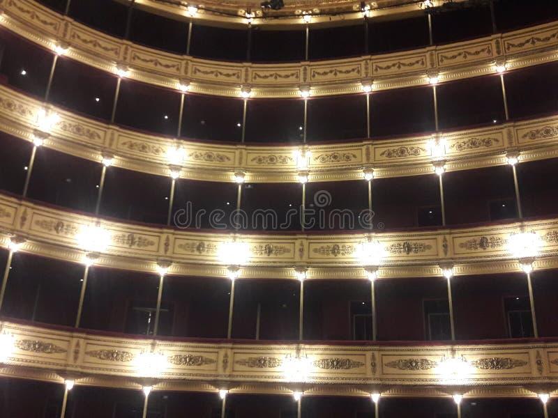 乌拉圭蒙得维的亚历史剧院 免版税库存照片