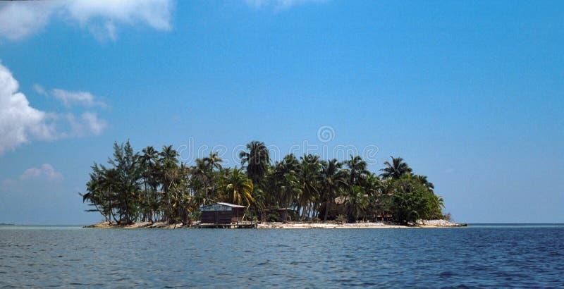 乌提拉岛,海湾海岛,洪都拉斯钥匙的小海岛  免版税图库摄影