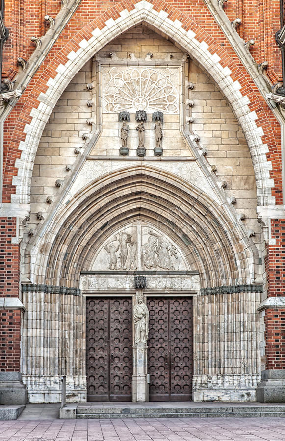 乌普萨拉大教堂 库存图片