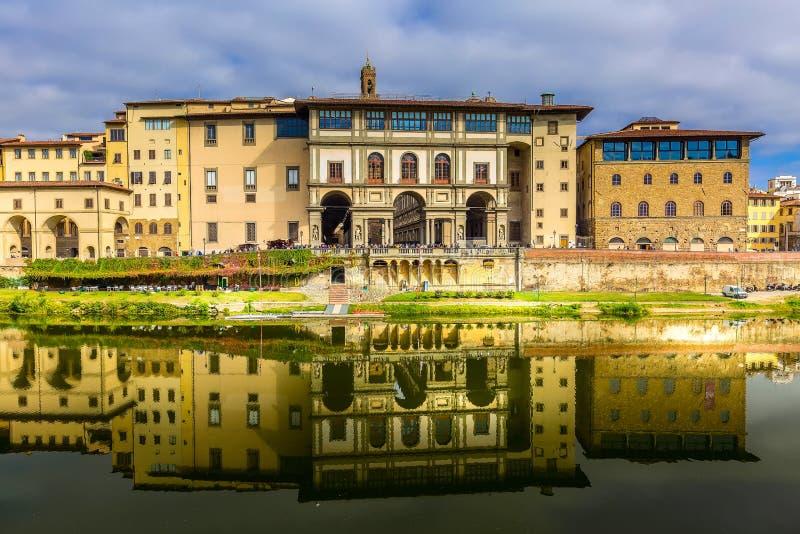 乌菲兹美术馆画廊在佛罗伦萨,托斯卡纳,意大利 免版税库存图片