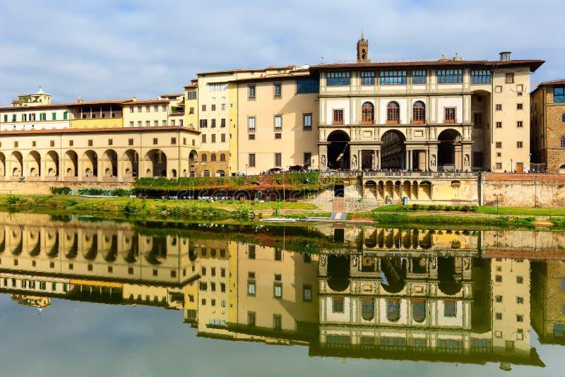 乌菲兹美术馆画廊在佛罗伦萨,托斯卡纳,意大利 库存图片