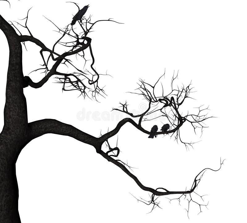 乌鸦树 皇族释放例证