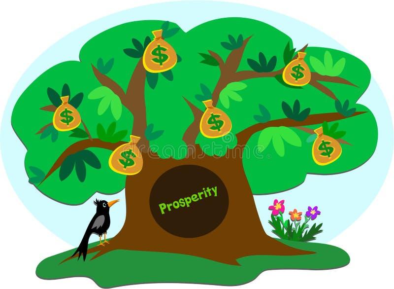 乌鸦货币繁荣结构树 库存例证