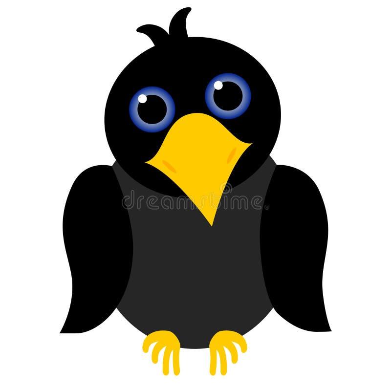 黑乌鸦 向量例证