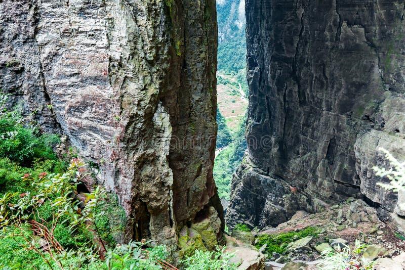 乌龙石灰岩地区常见的地形世界自然遗产,重庆,中国 免版税库存图片