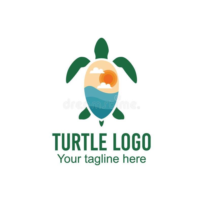 乌龟商标传染媒介艺术商标模板和例证 皇族释放例证