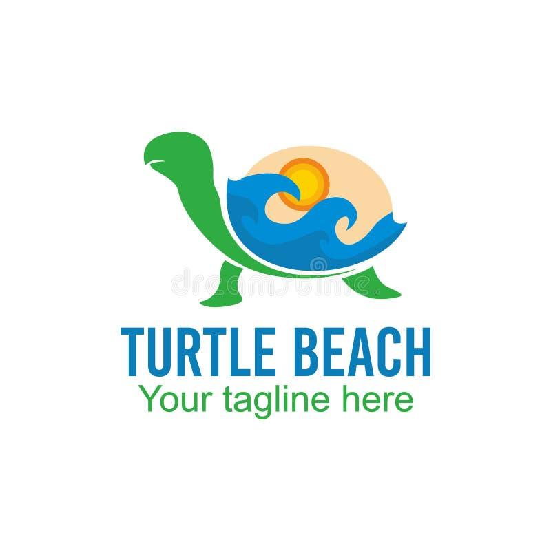 乌龟商标传染媒介艺术商标模板和例证 库存例证