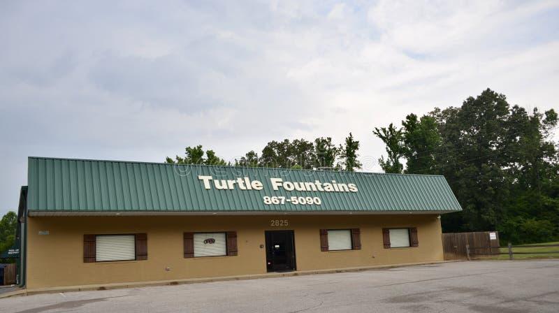 乌龟喷泉,泥工, TN 免版税库存照片