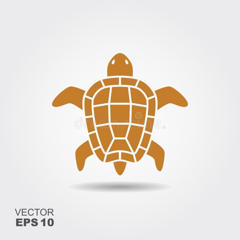 乌龟平的象 皇族释放例证