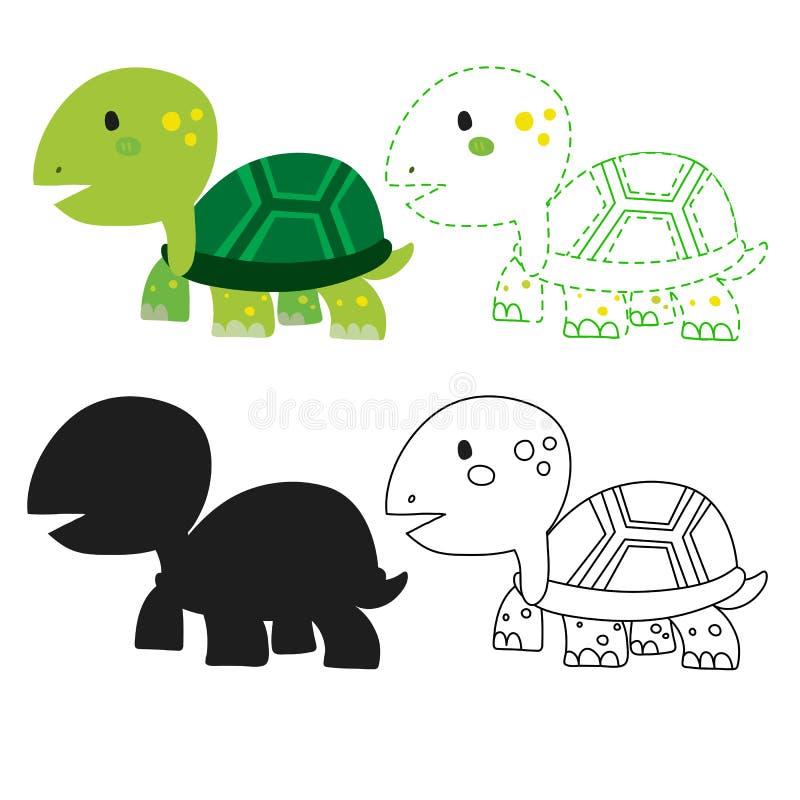 乌龟活页练习题传染媒介设计 库存例证