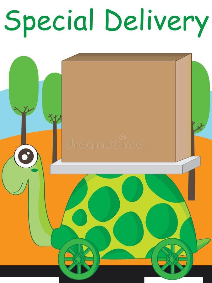 乌龟缓慢的超级交付 库存例证