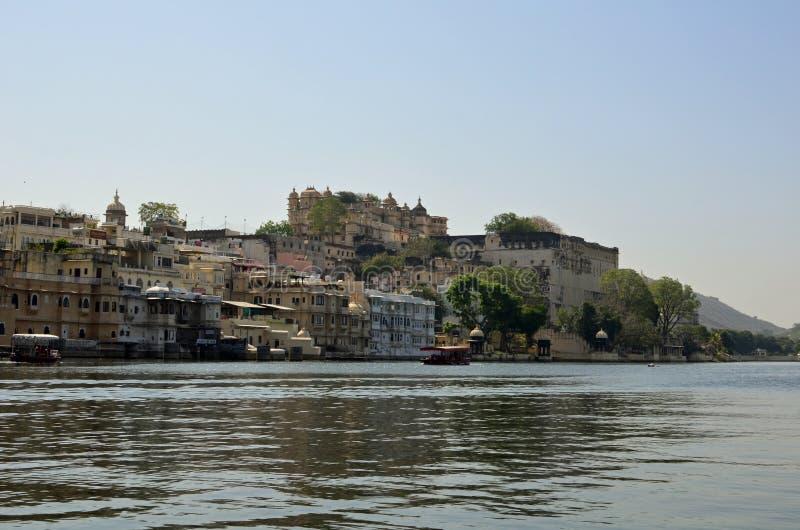 乌代浦和湖Pichola,拉贾斯坦,印度 免版税库存图片