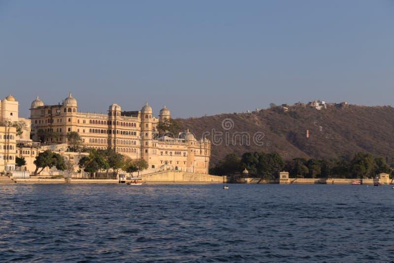 乌代浦拉贾斯坦国家的市宫殿的印度 免版税库存照片