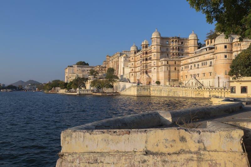 乌代浦拉贾斯坦国家的市宫殿的印度 图库摄影