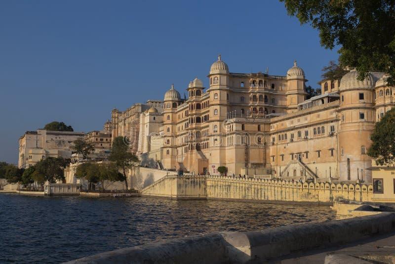 乌代浦拉贾斯坦国家的市宫殿的印度 库存照片