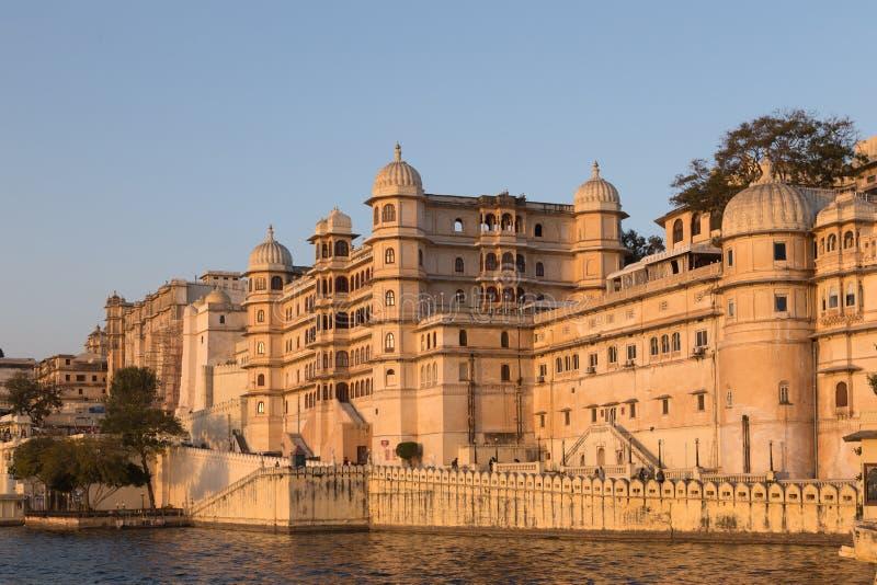 乌代浦拉贾斯坦国家的市宫殿的印度 免版税库存图片