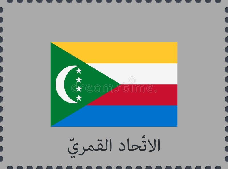 乍得的旗子有国家的名字的阿拉伯传染媒介标志和象的 ?? 库存例证