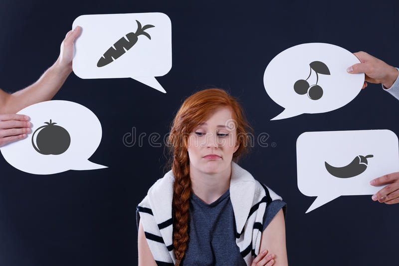 乏味女孩和演说序幕 免版税图库摄影