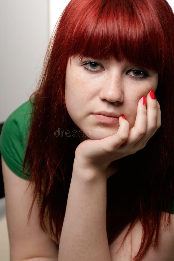 乏味女孩 免版税库存照片