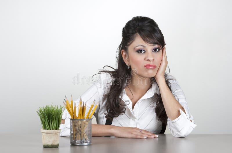 乏味妇女工作 库存图片